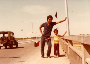 Yumul with his brother Henry during an Independence Day celebration in laoag City.  His sende of nationalism can be gtraced back from his childhood.