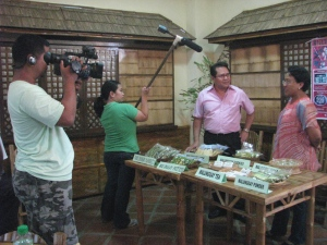 "During a TV shoot for ""Negosyo, atbp."" aired on NBN"