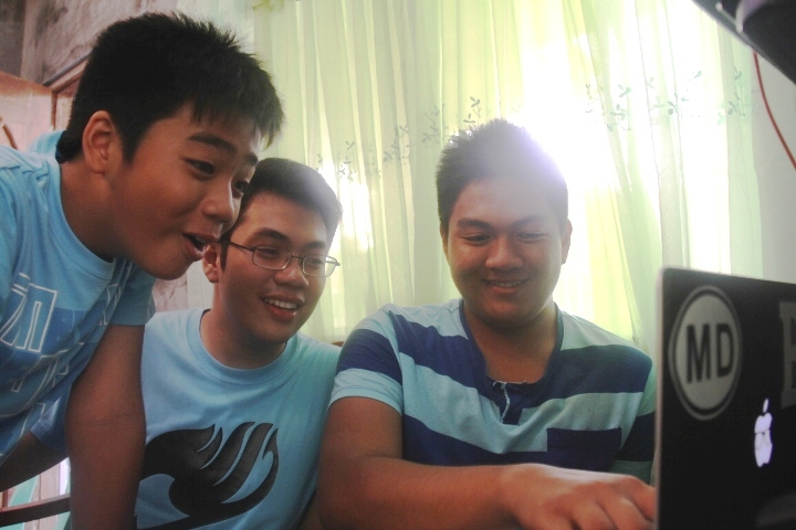 With brothers Noah and Vince