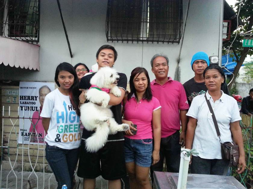Herry is the guy in pink shirt. Lady Jaja Colleen is in pink, too.