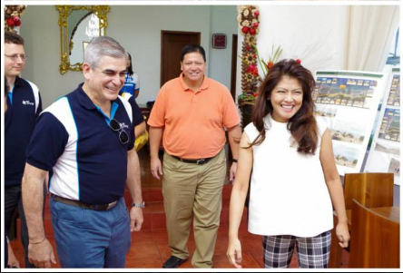 Governor Imee met with Jaime Zobel de Ayala of Ayala Corporation on March 27, 2014, at the Ilocos Norte Capitol. Ayala was in the province to inspect the construction of the 200 megawatt wind energy project in Pagudpud.