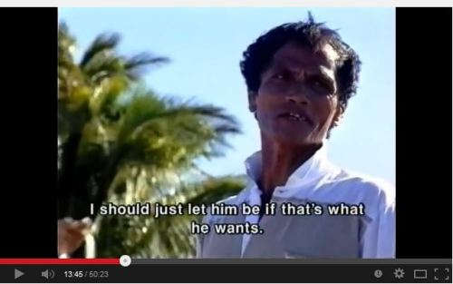 "Even fathers are supportive... (screen grab from the documentary ""Sunflowers"" (1996) ""Sunflowers"""