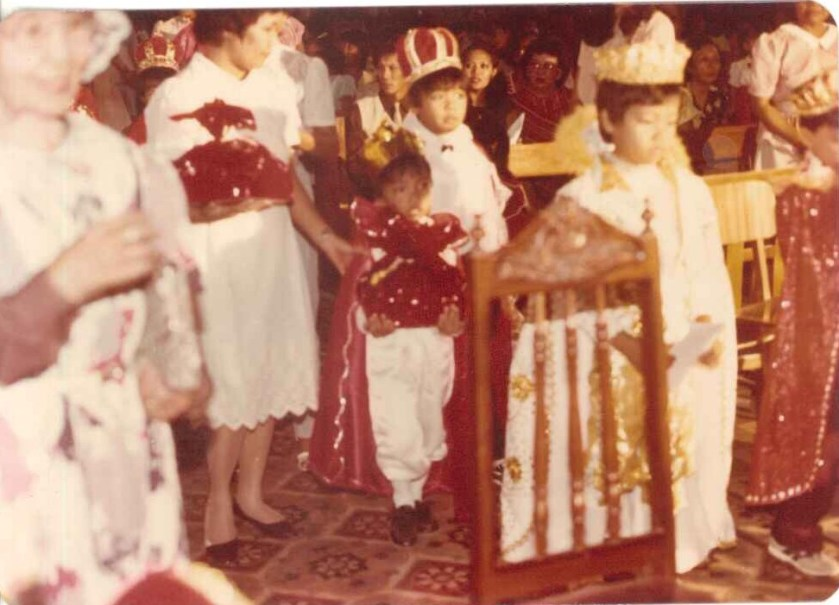 Me and mom: I was the smallest Sto. Nino.