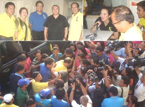 Then presidential candidate Noynoy Aquino in Laoag City, 2010